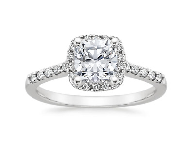 1.5 CT Wedding Engagement RING ROUND CUT Halo White Gold Plated Bridal SIZE 5-10