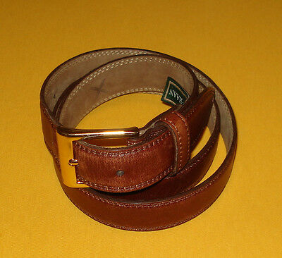 MEN'S COLE HAAN LIGHT BROWN MADE IN U.S.A. GENUINE LEATHER BELT SIZE 36/90cm.