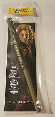 Harry Potter Hermione Wand Pen and Bookmark Gift Set Hogwarts