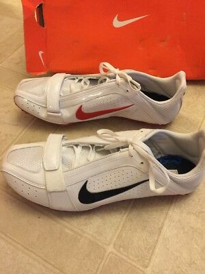 Nike Zoom Rival S IV White/obsidian Sport Red 11.5 Track Field Spike Shoes