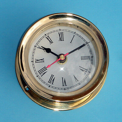 vintage maritime ship's SOLID BRASS GIMBALS SHIPS CLOCK