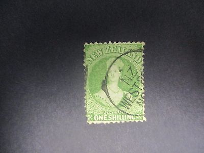 New Zealand Stamps: 1/- Green  Chalon Used (1033)