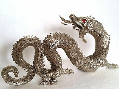 Large Fierce Dragon Pewter Figurine Limited Collectible From the Artist Signed
