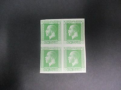New Zealand Stamps: Imperf Block of 4 MNH (1037)