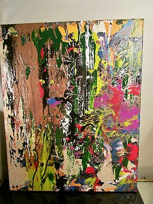 original painting abstract by musk yai signed on 16x20 canvas nyc authentic art