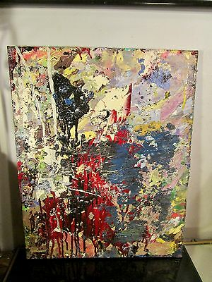 original abstract canvas painting signed by musk yai 16x20 1 of a kind~ 2017