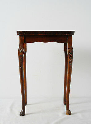 Vintage Carved Wooden Accent Table