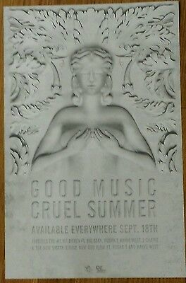"Kanye West & G.O.O.D. Music ""Cruel Summer"" Poster (11x17 inches)"