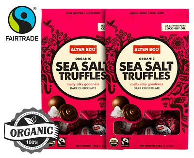 2 x Alter Eco Organic Dark Chocolate Sea Salt Truffles 108g