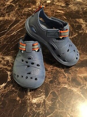 The Children's Place Toddler Boy Blue Croc Rubber Sandal Shoes Size 5