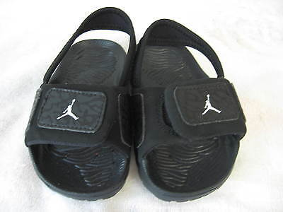 Nike Jordan Hydro Black Sandals Shoes~Baby Toddler Sz 7C