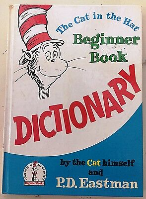 1st EDITION 1964 THE CAT in the HAT Beginner Book DICTIONARY
