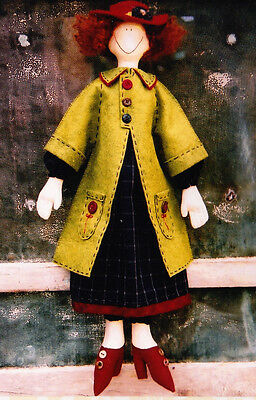 PATTERN - Millie - cute red haired cloth doll PATTERN - Hatched & Patched