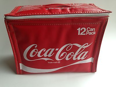 Vintage Coca Cola Soft Sided Zipper Cooler - 12 Can Pack