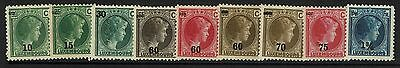 Luxembourg SC# 186-193, Mint Hinged, Hinge Remnant, see notes - Lot 071017