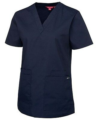 NEW Ladies Scrub Tops NAVY Womens Scrub Tops Size 8 10 12 14 16 18 20 22 24 JB's