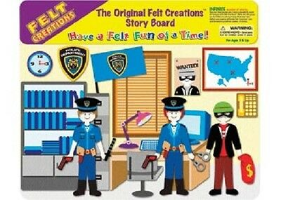 NEW Felt Creations Police Station - Kids Felt Board Activity Policeman Robber