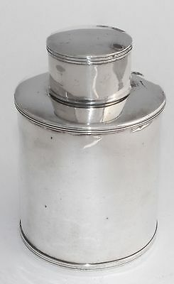 Vintage English EPC Silver Plate Tea Caddy / Canister