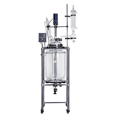 100L Jacketed Glass Chemical Reactor,Glass Reaction Vessel