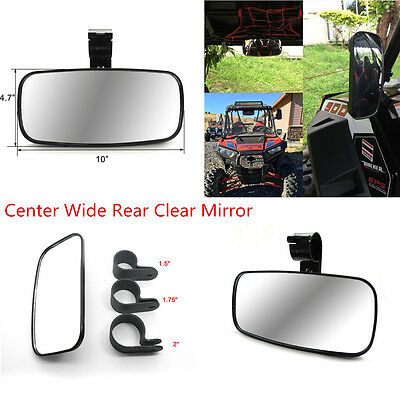 UTV Clean Rear View Center Mirror with Adjustable Bracket 1.5''-2'' ABS Housing