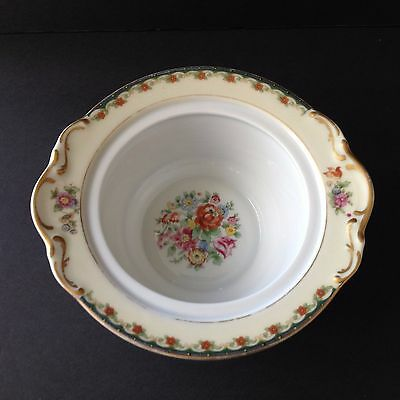 Vintage KPM Germany Kingsly Bowl Fine China Floral Gold Accent Collectible Gift