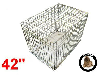 "Ellie-Bo 42"" Extra Large Deluxe Dog Puppy Pet Cage Carrier Crate In Gold"