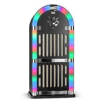 Retro Design Musikbox Auna Memphis Jukebox Ukw Radio Led Effekt Bluetooth Aux