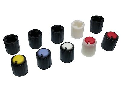 5 Colours Plastic Pot Knobs for 6mm Potentiometer / Rotary Switch / Encoder