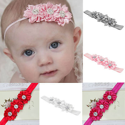 Colorful Baby Girls Flower Hairband Soft Elastic Headband Hair Accessories Band