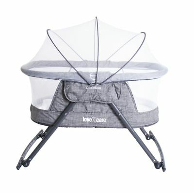 Love N Care Guardian Cradle Compact Portable Travel Baby Bassinet Gray