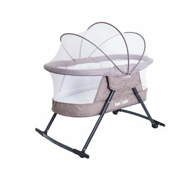 Love N Care Guardian Cradle Compact Portable Travel Baby Bassinet Brown