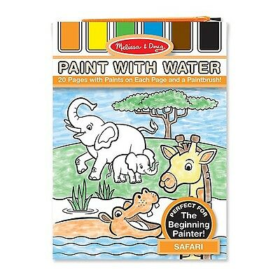 NEW Melissa and Doug Paint with Water - Safari - Kids Animal Painting Activity