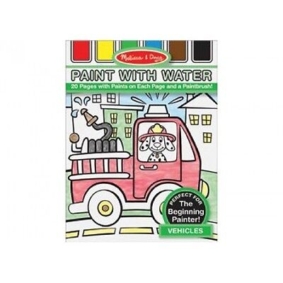 NEW Melissa and Doug Paint with Water - Vehicles - Kids Cars Painting Activity