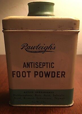 Vintage/ Rawleigh's/ Antiseptic Foot Powder/ Bottle/ Tin