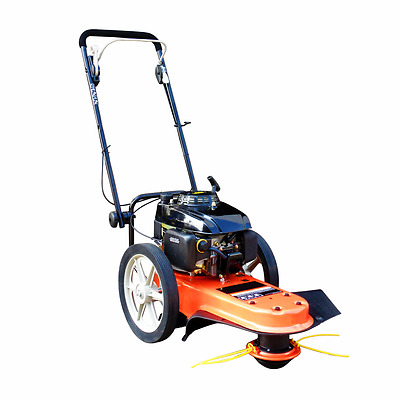 Petrol 5.5hp 2 Wheeled Heavy Duty Trimmer Brushcutter Grass Cutter FREE Oil