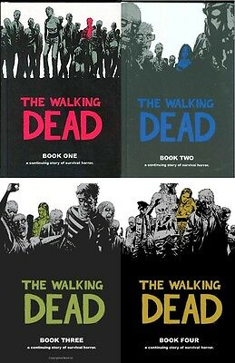 THE WALKING DEAD - Collection of Hardcover Books 1-4 Comic 48 Issues Hardback