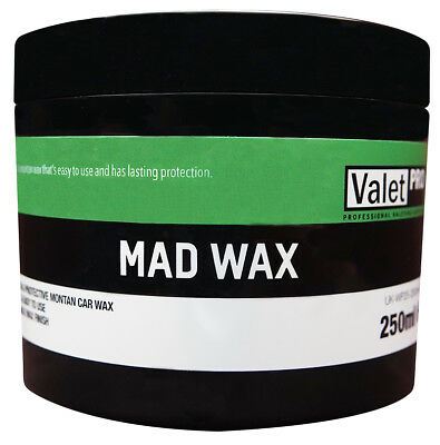 Mad Wax By Valet Pro 250ml Tough Durable Shine Easy To Use Montan Car Wax
