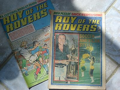 2 x Vintage ROY OF THE ROVERS comics from 1978 and 1979