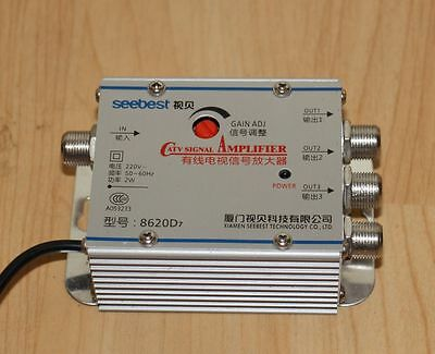 TV signal amplifier 1 in 3 out