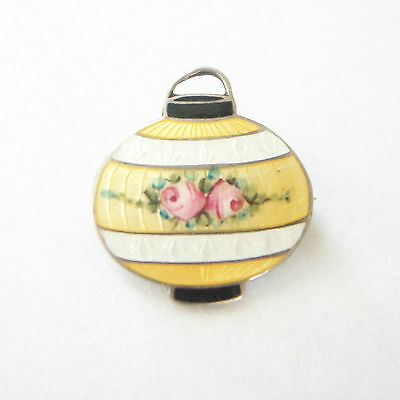F.A. HERMANN - Fine Guilloche Enamel & Sterling Pin - U.S. - Early 20th Century