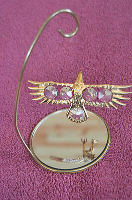 Gold Plated Soaring Eagle with Austrian Crystal over Mirror