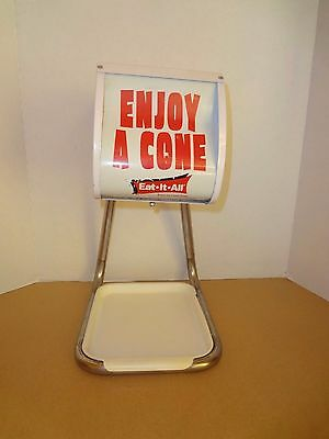 Vintage Enjoy A Cone Ice Cream Holder Dispenser Eat-It-All