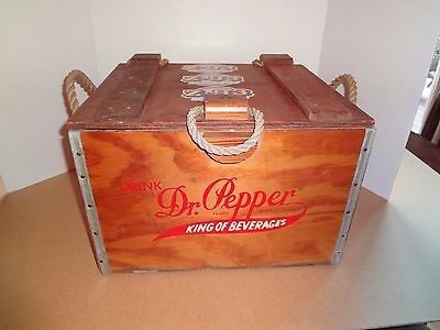 Dr. Pepper 100th Anniversary Wood Crate/Cooler Box 1885-1985