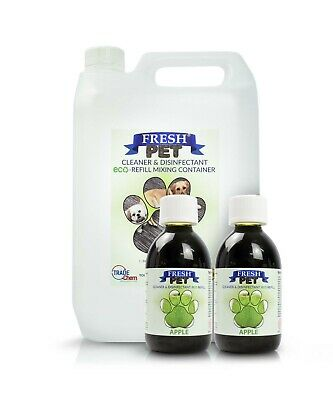 2 x 5L FRESH PET URINE SMELL ODOUR REMOVER  - APPLE PIE - TRADE Chem