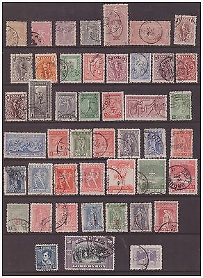 Greece 1896-1926 used stamps selection