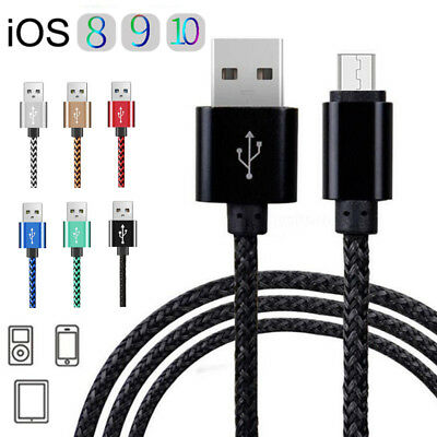 0.25M-3M Braided USB Data Sync Charger Charging Cable For iPone 5 5s 6 6s 7 Plus