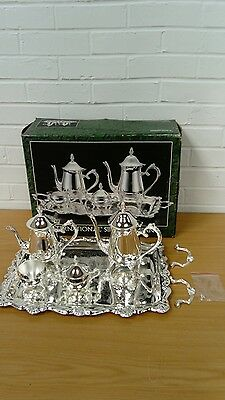 International Silver Company Silver Plated Coffee Tea Pot Set In Box