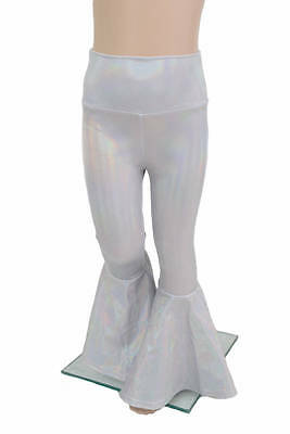 Kids 4T Flashbulb Holographic Rock Star Bell Bottom Flare Pants Ready to Ship!