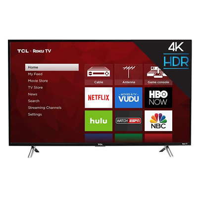 "TCL 43S405 43"" 4K Ultra HD Roku Smart LED TV with 3 HDMI/1 USB Ports"