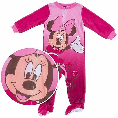 NEW Disney Pink Minnie Mouse Footed Pajamas for Toddler Girls Size 18 Months